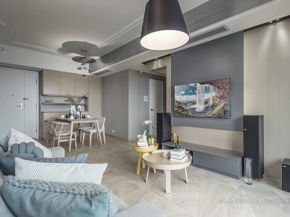 Artemide Tolomeo Mega Floor Lamp in Parc Palais' Living Room