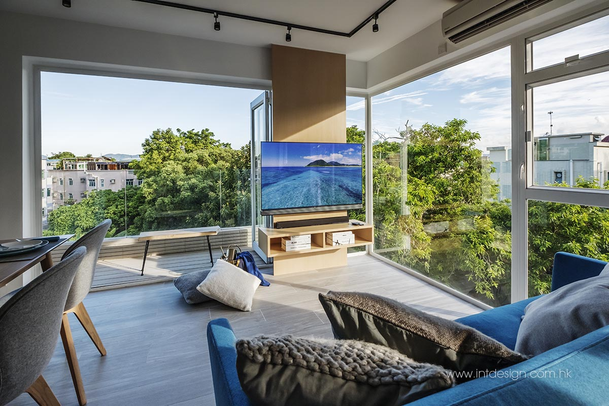 Garden View from TaiPo East Village House's Living Room