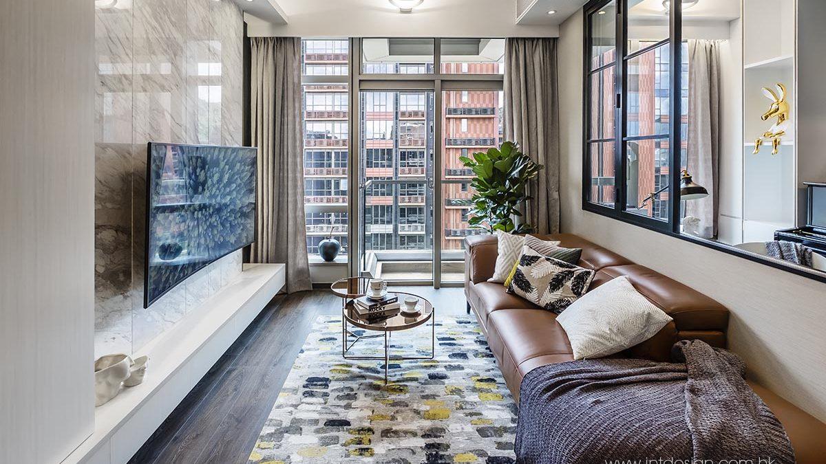 Romo Murano Sunflower Rug in The Horizon's Living Room